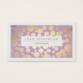 模造のな金ぱくの美容師の紫色のスタイリスト 名刺