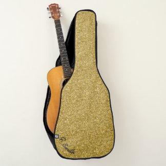 模造のな金ゴールドのきらめくきらめき ギターケース
