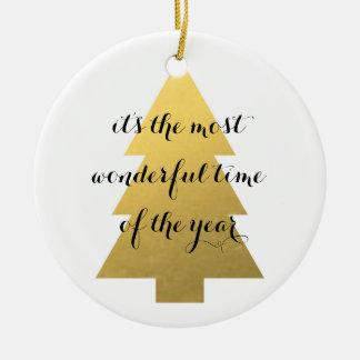 模造のな金ゴールドのクリスマスツリー セラミックオーナメント