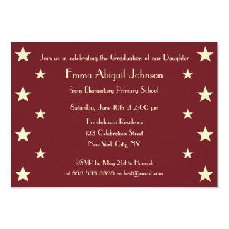模造のな金ゴールドの星の学校の卒業のパーティの招待状 8.9 X 12.7 インビテーションカード