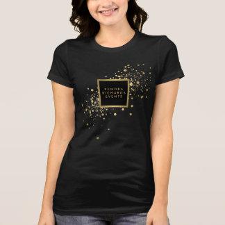 模造のな金ゴールドの紙吹雪 Tシャツ