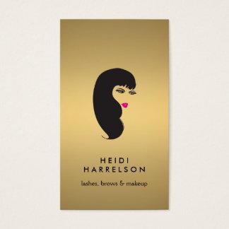 模造のな金ゴールドの美しいIIの鞭を持つ女の子 名刺