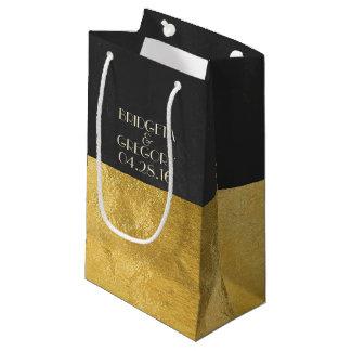 模造のな金ゴールドホイルおよび黒板 スモールペーパーバッグ