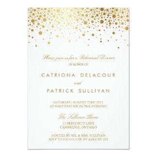 模造のな金ゴールドホイルのエレガントなリハーサルの夕食の招待状 12.7 X 17.8 インビテーションカード