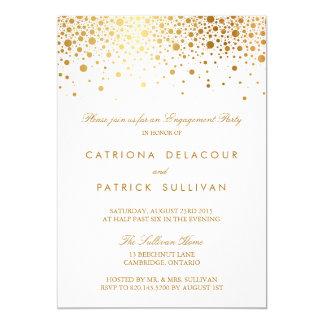 模造のな金ゴールドホイルのエレガントな婚約パーティの招待状 12.7 X 17.8 インビテーションカード