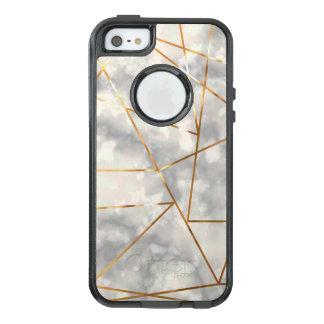 模造のな金ゴールドホイルの形と白く、大理石 オッターボックスiPhone SE/5/5s ケース