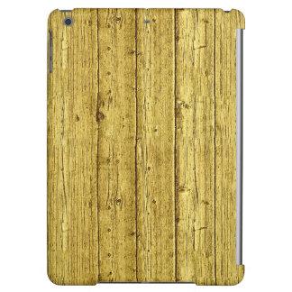 模造のな金ゴールドホイルの木製の質の背景のテンプレート