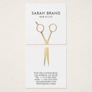 模造のな金ゴールドホイルは美容師を切ります スクエア名刺