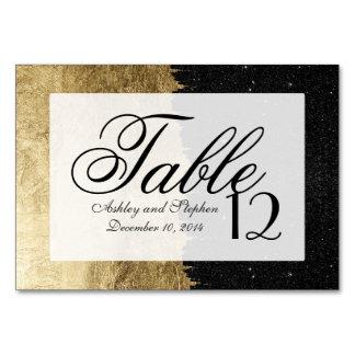 模造のな金ゴールド及び黒い星明かりの夜ブラシストローク カード