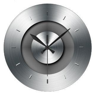 模造のな金属のエレガントでモダンな柱時計 ラージ壁時計