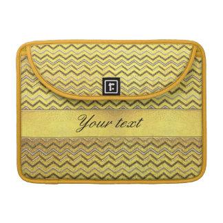 模造のな金属グリッターのシェブロンの金ゴールドホイル MacBook PROスリーブ