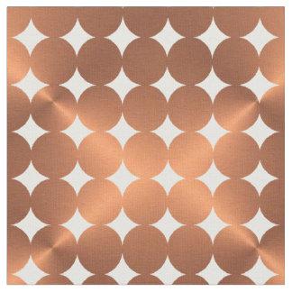 模造のな金属銅の点のデザイン ファブリック