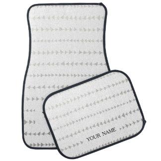 模造のな銀ぱくの白い矢パターン カーマット