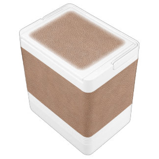 模造のな革自然なブラウン 缶クーラー