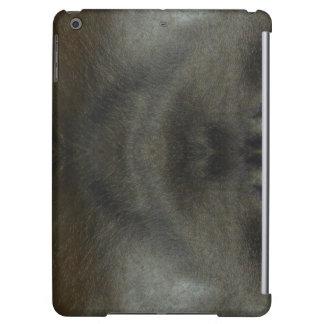 模造のな革iPadの場合の黒の灰色