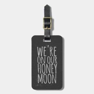 模造のな黒板の新婚旅行旅行バッグのラベル ラゲッジタグ