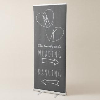 模造のな黒板の結婚式の矢の引き込み式の旗 伸縮バナー
