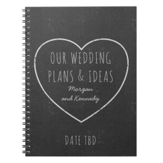模造のな黒板の結婚式の計画およびアイディアジャーナル ノートブック
