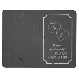 模造のな黒板結婚式のノートの少しブラックリスト ポケットジャーナル