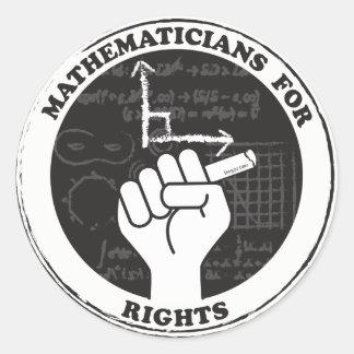 権利のステッカーのための数学者 ラウンドシール