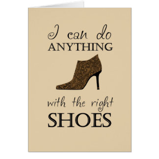 権利の靴 グリーティングカード