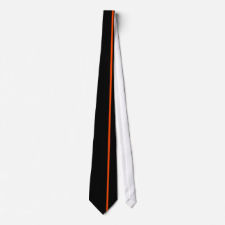 権利を離れた黒のオレンジ赤の薄い垂直線 ネクタイ