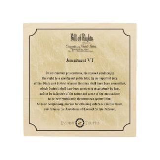 権利章典-第6修正の素朴な壁のプラク ウッドウォールアート