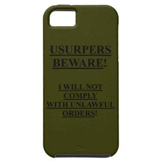 権力強奪者が付いているiphone 5の穹窖のVibe ODの緑の箱 iPhone SE/5/5s ケース