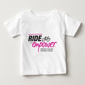 権限を与えるために乗って下さい ベビーTシャツ