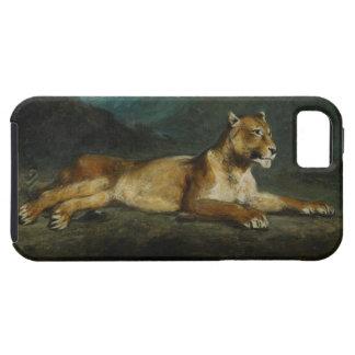 横たわっている雌ジシc.1855 (パネルの油) iPhone SE/5/5s ケース