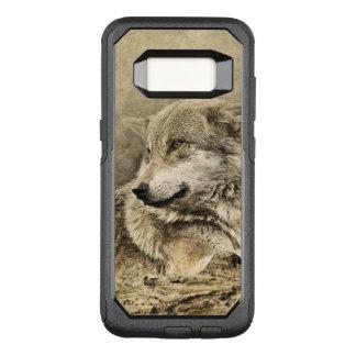 横になっている素晴らしいヴィンテージのオオカミ オッターボックスコミューターSamsung GALAXY S8 ケース