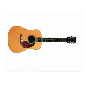 横のアコースティックギター ポストカード
