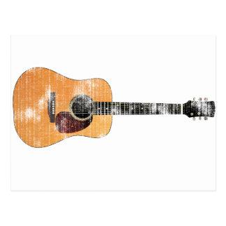 横のアコースティックギター(動揺して) ポストカード