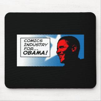 横のオバマのマウスパッドのための漫画の企業 マウスパッド