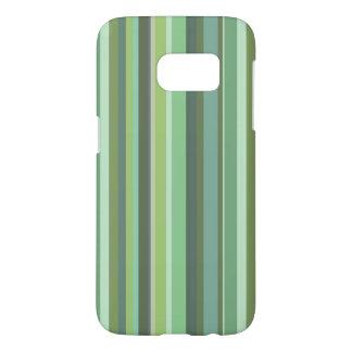 横のオリーブ色は縞で飾ります SAMSUNG GALAXY S7 ケース