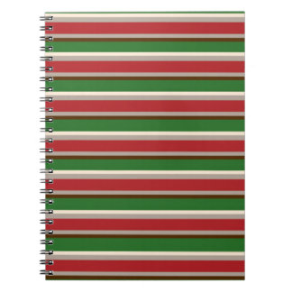 横のクリスマスのストライプなノート ノートブック