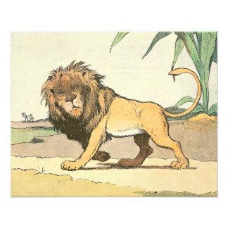横のジャングルのライオン フォトプリント