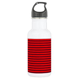 横のストライプ赤く2赤くおよび暗い深紅 ウォーターボトル