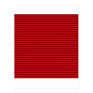 横のストライプ赤く2赤くおよび暗い深紅 ポストカード