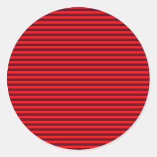 横のストライプ赤く2赤くおよび暗い深紅 ラウンドシール