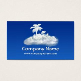 横のデザインの観光事業の代理業カード 名刺
