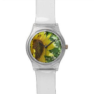 横のヒマワリ 腕時計