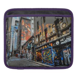 横のメルボルンの通りの芸術のiPadのパッド iPad 用スリーブ