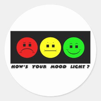 横の不機嫌な信号の気分ライト ラウンドシール