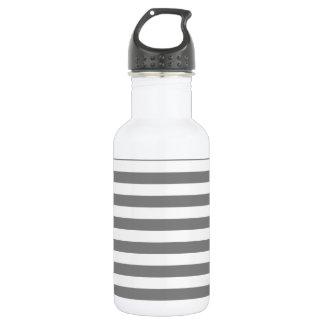 横の広い-灰色および薄い灰色縞で飾ります ウォーターボトル