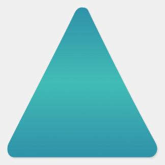 横の海の青く、軽い海緑の勾配 三角形シール