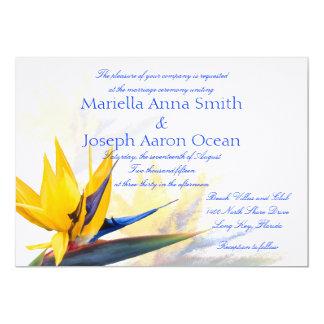 横の結婚式招待状極楽鳥 カード