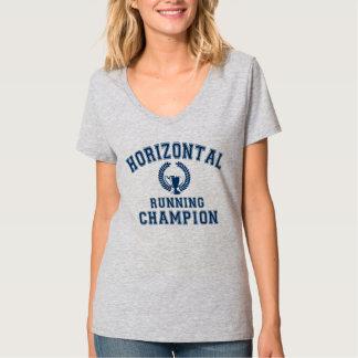 横の連続したチャンピオン Tシャツ