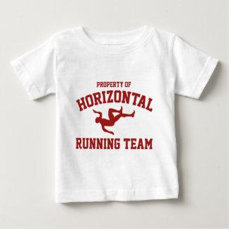 横の連続したチームの特性 ベビーTシャツ
