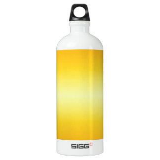 横の電気黄色および蜜柑の勾配 ウォーターボトル